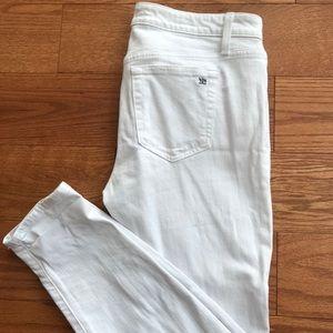 Joe's skinny white ankle jeans